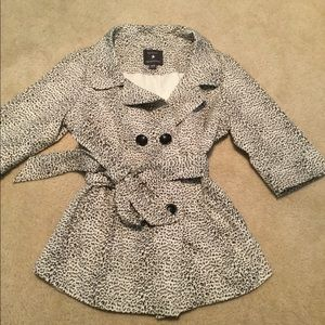 Cheetah trench coat